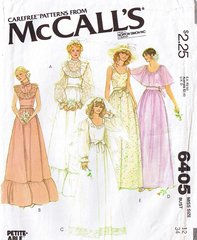 70's Bridal Gown McCall's Pattern 6405 Bust 34