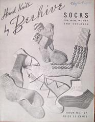 Socks Hand Knits by Beehive Book 1944 No. 127