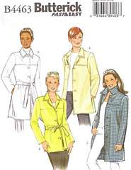 Butterick 4463 Jacket in Two Lengths Pattern Size 8-14