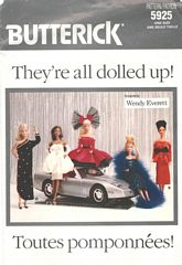Butterick Wendy Everett Fancy Barbie Wardrobe Pattern