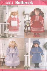 Butterick Historical Victorian Doll Clothes Pattern 18 Inch