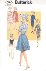 Butterick 6965 Sixties Fashion Doll Clothes Pattern