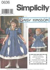 Simplicity 9425 / 0636 Girls and Doll Dress Pattern 5-8