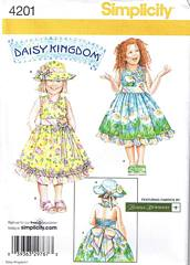 Simplicity 4201 Sundress and Hat Pattern Size 5-8
