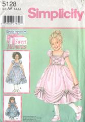 Simplicity 5128 Daisy Kingdom Girls and Doll Dress Pattern 3-6