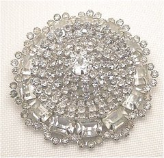 Rhinestone Galaxy Pie Brooch Size Extra Large