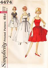 1960's Mad Men Era Evening Dress and Gown Pattern B34