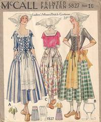 1920's Rare McCall Dutch Costume Pattern