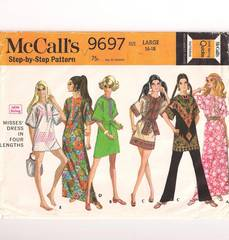 Casual 1960's Pullover Dress Simplicity Pattern Bust 38-40