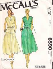 1970's McCall's 6590 DDDominick Dress Pattern B32.5-34