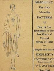 1920's Flapper Era Deco Dress Simplicity Pattern Bust 42