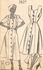 1930's Sundress And Bolero Mail Order Pattern Bust 32