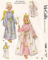 1950's McCall's 1560 Angel, Fairy Queen Costume Pattern 6-8