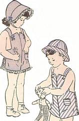 1940's Butterick 4465 Sunsuit, Poke Bonnet, Hat Pattern Size 2