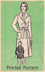 1970's Wrap Coat, Jacket, Pants Mail Order Pattern 9331 B38
