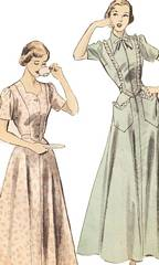 1940's Housecoat and House Dress Pattern Bust 32