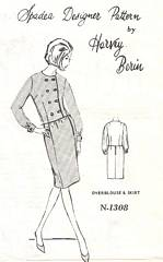 Harvey Berin Spadea N-1308 Pattern Double Breasted Blouse, Skirt