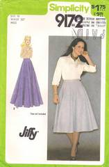 70's Simplicity 9172 Jiffy Flared Evening Skirt Pattern W30