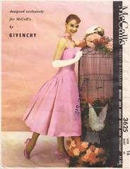 1950's McCall's 3625 Givenchy Exclusive Dress Pattern