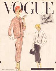 Vogue 951 Vtg 50's Couturier Dress and Jacket Pattern