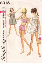 60's Vtg Simplicity 6018 Bathing Suit and Cover-Up Pattern