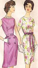 Mad Men Era 60's Slim Dress Simplicity 3874 Pattern Bust 34