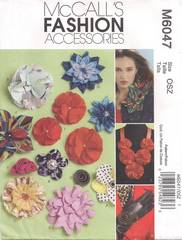 McCall's Fashion Accessories 10 Fabric Flowers Pattern