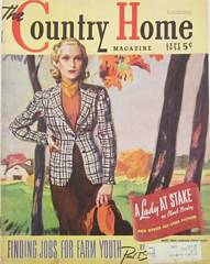 1938 September Country Home Magazine Woman In Autumn Tweed