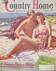 1938 August Country Home Magazine Man, Woman on Beach