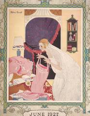 1927 June Needlecraft Magazine with Deco Trousseau Cover
