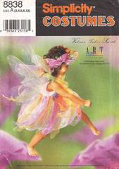 Designer Fairy Dress and Wings Costume Pattern Girls Sizes 3-8