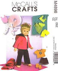 McCall's 4896 Pattern Four Outfits for 18 Inch Dolls