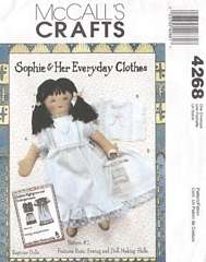 Sophie Lingerie and Playmate Doll McCall's Pattern 4268