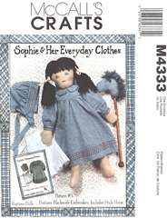Sophie Clothes and Stick Horse McCall's Pattern 4333