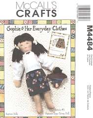 Sophie Clothes and Topsy-Turvey Doll McCall's Pattern 4484
