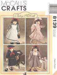 McCall's 8139 Betsy McCall Doll Clothes Pattern 18""