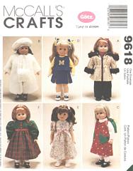 McCall's 9618 Goetz Time To Dream Doll Clothes Pattern 18""