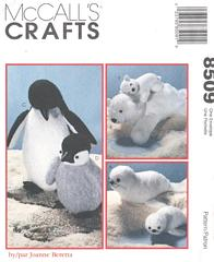 Penguin, Seal, Polar Bear Mothers and Babies Pattern