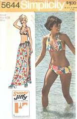 1970's Bikini and Wrap And Tie Skirt Super Jiffy Pattern Bust 32