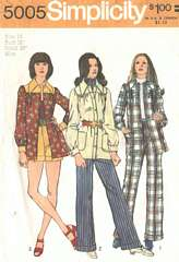 1970's Hot Pants and Smock-Jacket Pattern Bust 38
