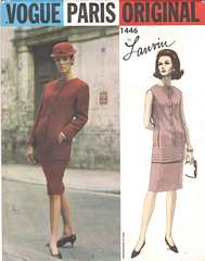 Lanvin Vogue Paris Original Pattern 1446 Bust 34