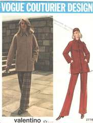 Valentino Vogue 2776 Couturier Coat and Pants Pattern
