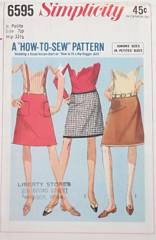 1960's Junior Petite Hip-Hugger Skirt Pattern Waist 23.5