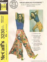 1970's McCall's Wrap Around Pantskirt Pattern Waist 26.5-28