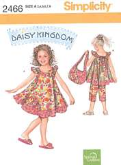 Simplicity 2466 Daisy Kingdom Pattern Sizes 3-8