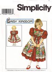 Simplicity 7349 Daisy Kingdom Girls and Doll Dress Pattern 5-8