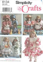 Simplicity 8134 Clothes Pattern for 18 Inch Dolls