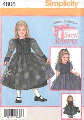 Simplicity 4808 Daisy Kingdom Girls and Doll Dress Pattern 5-8