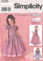 Simplicity 5339 Daisy Kingdom Girls, Doll Outfit Pattern 7-14