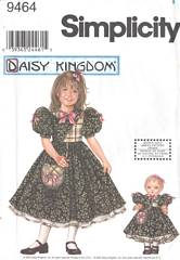 Simplicity 9464 Daisy Kingdom Girls and Doll Dress Pattern 3-6